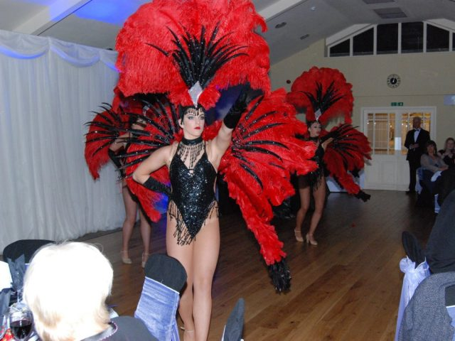 Dancer at a corporate event at the Mansion House