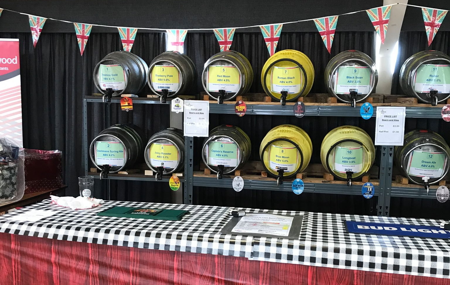 Beer barrels at the annual Mansion House Beer Festival