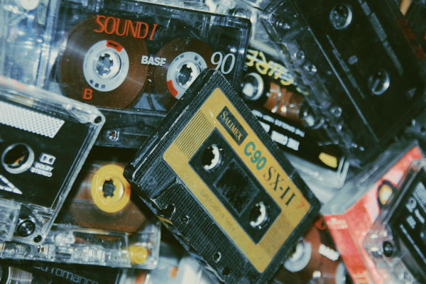 Pile of cassettes
