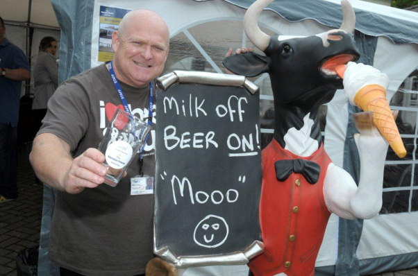 Mark Lunney at the annual Mansion House Beer Festival